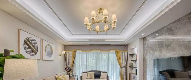 132㎡的现代美式,客厅舒适大气,还带点禅意,卧室背景墙漂亮!