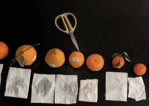 西安,一位王女士在某小区群里买到了染色的橘子,远离黑心商家