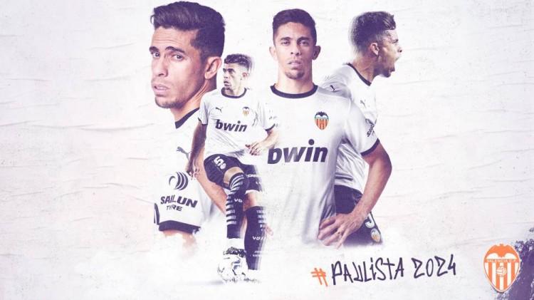 官方:瓦伦西亚俱乐部与保利斯塔续约至2024年6月30日