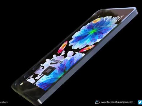 三星 Galaxy 透明手机:U 形电池藏边框,这设计太有想象力