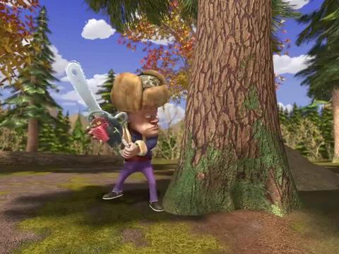 熊出没:光头强发现了大浮雕,只有成为艺术品,才能卖出好价钱!