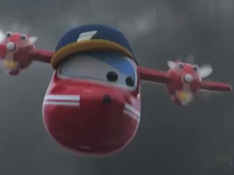 超级飞侠:飞侠要赢得比赛,冲出了暴风雨区,真是太棒了!