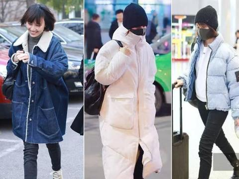 袁泉穿泰迪熊大衣扎马尾,气质又减龄美得真低调,包包真抢镜