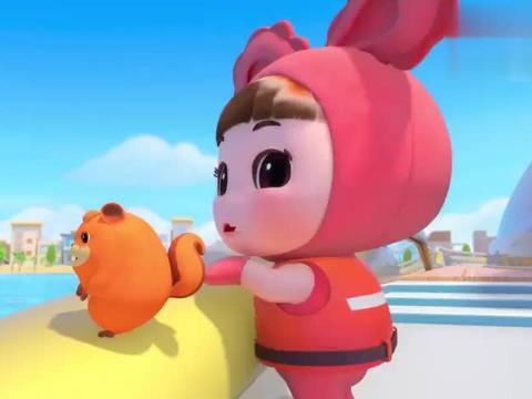 百变校巴:迪迪要看小海豚跳起来美美的样子,激动的跳起来!