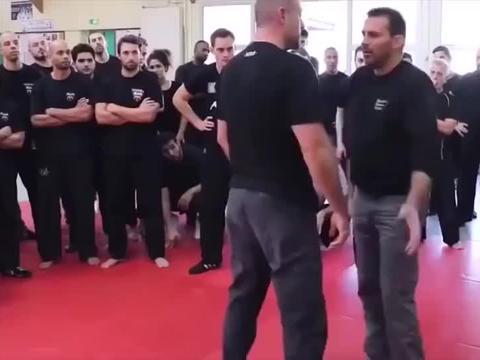 国外武术大师现场教学,这拳速是加了倍速么?