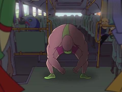 快递侠:好可怕的公交车,全都是怪人,真是不敢坐啊