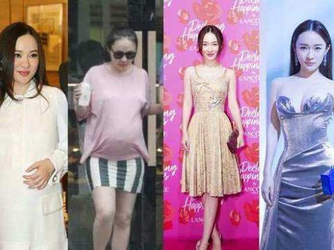 娱乐圈从胖变瘦的四大女星,李湘第四,赵薇第二,第一服气