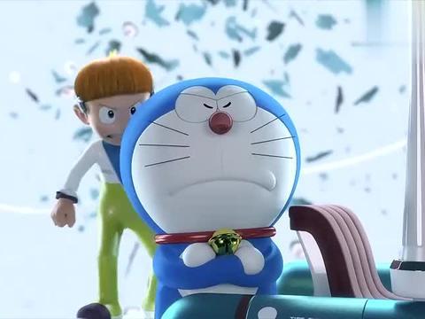 哆啦A梦剧场版:哆啦A梦展示百宝箱,真是要啥有啥,大雄都呆了