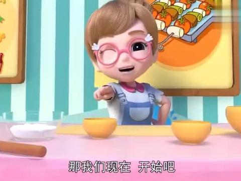百变校巴:老师教大家做饼干,小可爱发挥创意,好多形状哦!_1
