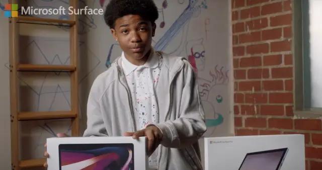 微软新广告称Surface Pro 7是比MacBook Pro更好的选择