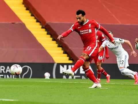 萨拉赫本赛季各项赛事打进19球,与凯恩并列英超球员第一