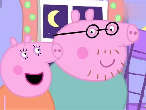 动漫:猪猪爸真是幸福呀,受到妻子小孩的疼爱,家庭和睦