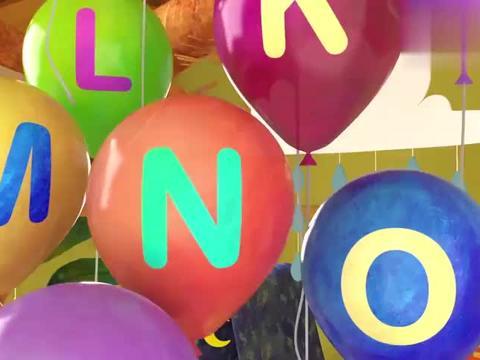 宝宝启蒙英语:满屋气球怎么办,空间都被放满了,小宝宝很头疼