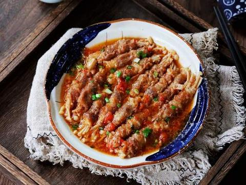 非常适合冬天吃的菜金针菇肥牛卷,吃完暖和一整天,还强身健体