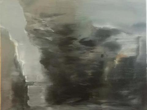艺术家袁赟,致力于抽象画的探索与创作,作品广受赞誉!