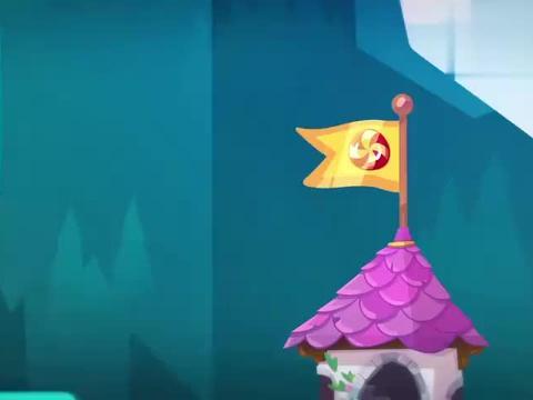 奥姆的故事:奥姆直奔糖果,巫师使用魔法,奥姆飞起来了