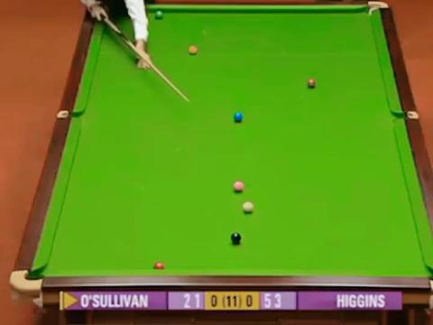 威尔士公开赛:奥沙利文极限单局逆转很无敌,希金斯也被打服了!