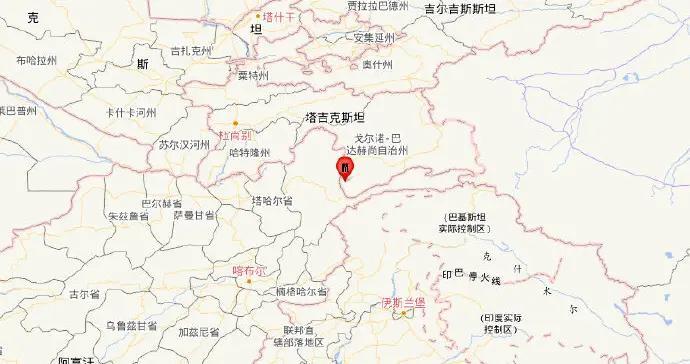 塔吉克斯坦发生5.1级地震 震源深度150千米
