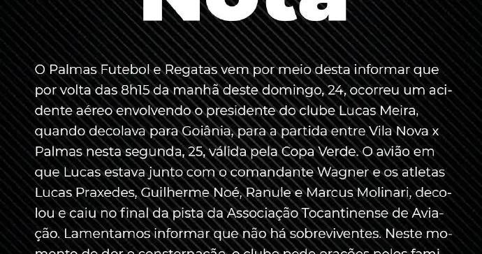巴西一球队遭遇空难:机上6人全部遇难,其中4名球员曾新冠病毒检测成阳性