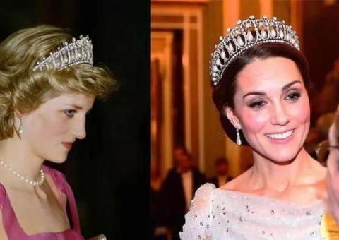 多年前戴铁艺头饰结婚,看来女王有点偏心