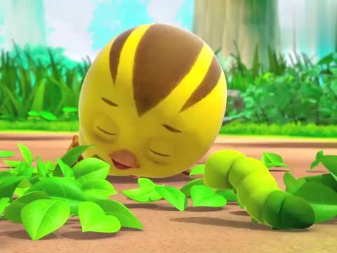 萌鸡小学堂:虫宝宝变成蝴蝶了,漂亮极了,萌鸡们都觉得好看!