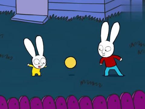 超人兔:爸爸打扫落叶,快要完成了,加斯伯一脚足球毁所有