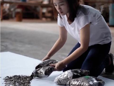 女子用两万颗瓜子创作出一幅画像,接下来的却让人觉得可惜