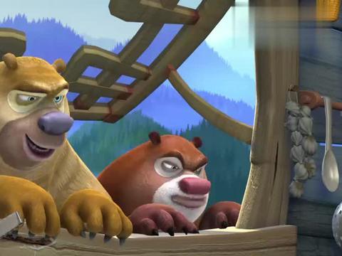 熊出没:熊大熊二扒窗户商量对策,一心想救小蜜蜂,怎么办好呢