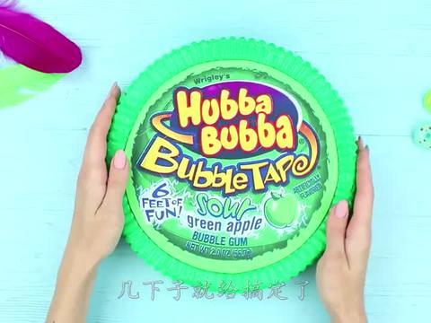 吃货女神DIY巨型糖果,一口下去后,味道简直太绝了!