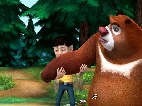 熊出没:这帮游客真过分,一点不知道保护森林,到处扔垃圾