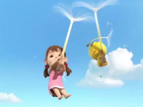 萌鸡小队:骑着蝴蝶飞过花海,萌鸡的世界好美!