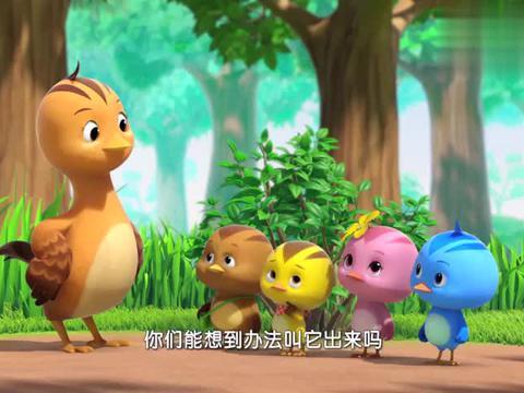 萌鸡小学堂:萌鸡仔集体唱歌想看竹节虫的真面目,没想到真成功了