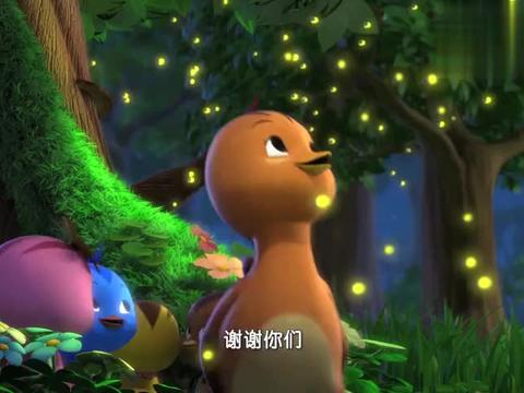 萌鸡小学堂:萤火虫照亮了萌鸡回家的路,真是暖心的小可爱!