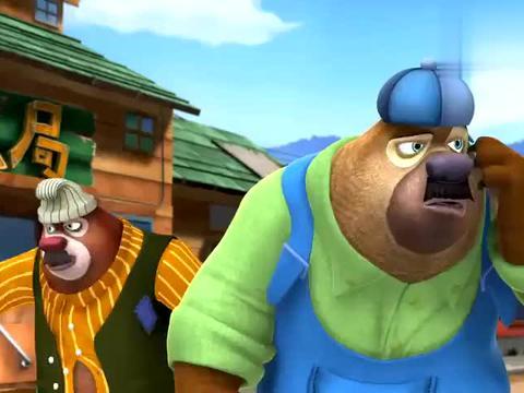 熊出没:光头强真可恶,食物都臭了,可他却还在烤给顾客吃
