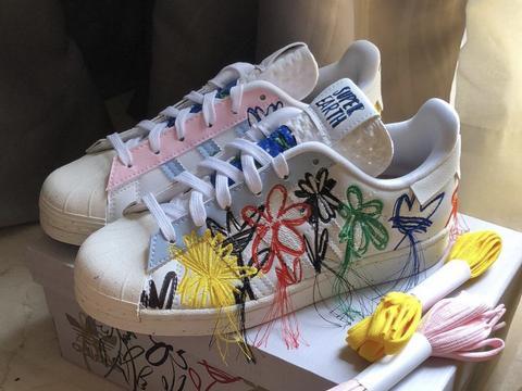 Adidas Superstar x Sean Weatherspoon Super Earth鞋长毛了