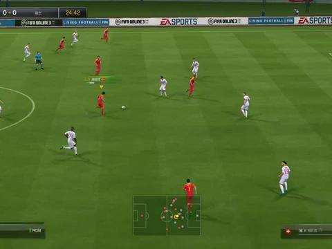 FIFA 池忠国远射破门,艾克森推射死角进球,中国男足2-0战胜瑞士