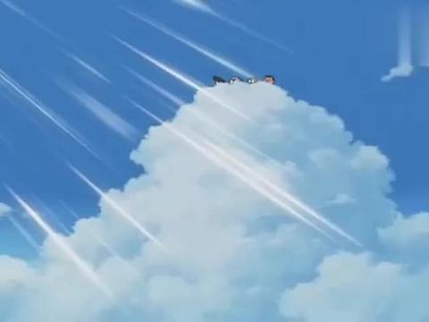 哆啦A梦:在云层上看风景,大雄你们还真是潇洒,可别吹感冒啦