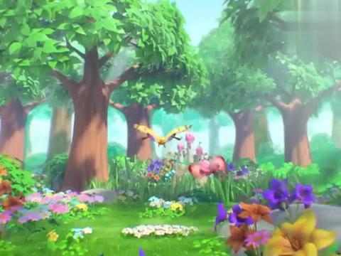 萌鸡小队:蝴蝶的世界好漂亮,朵朵看呆了,这些花好美呀