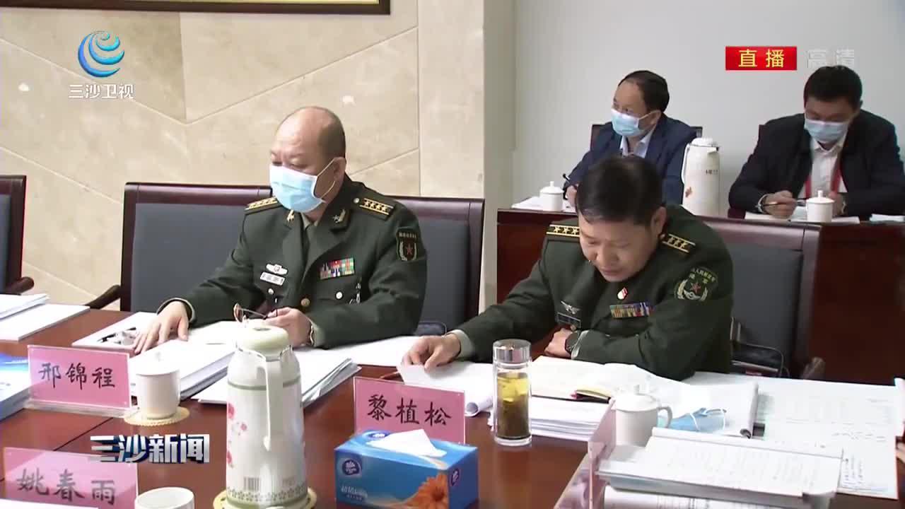 冯飞在参加儋州 三沙 解放军代表团审议时提出 推进港产城融合发展 在产业上形成互补支撑
