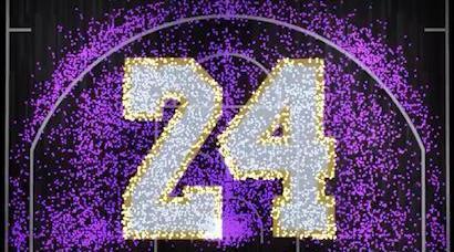 一生一队!科比生涯得分热点图拼凑出紫金24号