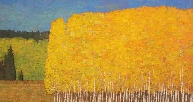 智利画家格若斯曼风景油画画面简单到极致,有人说他太偷懒了