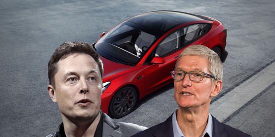 没想到苹果造车真的引发了特斯拉股价下跌!