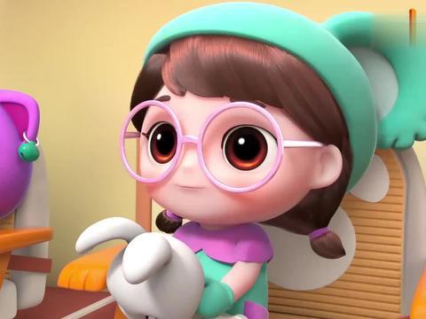 百变校巴:这小兔子好可爱,这是卡卡的宠物,大家都很喜欢小兔子