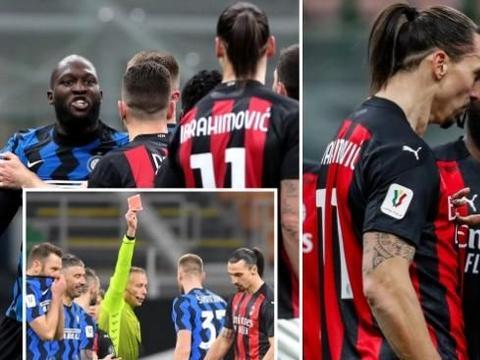 意大利杯1/4决赛:伊布挑衅卢卡库冲突染红!米兰被国米逆转淘汰