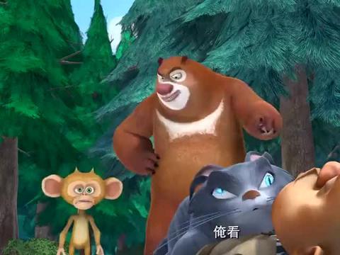 熊出没:狗熊们也要赶时髦,他们也玩起排球了,这也太幸福了吧