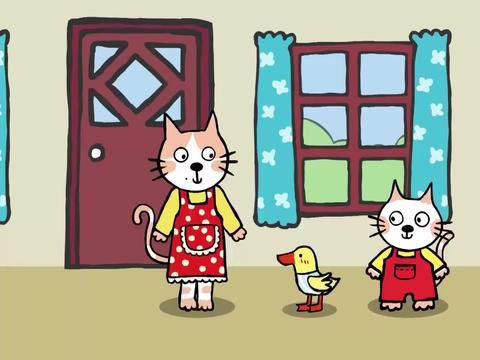 小猫汤米:小鸭子真可爱,红嘴唇黄身子,非常惹人爱呢