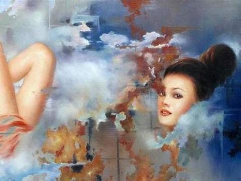一组性感逼真的写实人体油画作品,精彩极了