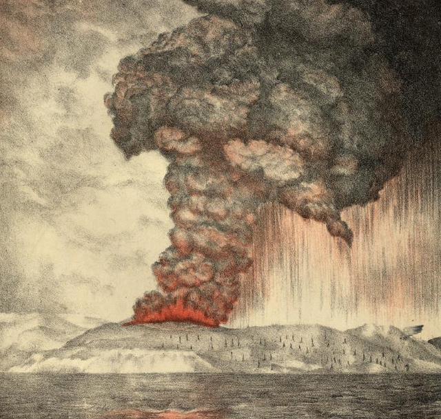 有记录以来声音最大的爆炸,冲击波在全球回荡5天,绕了地球3圈