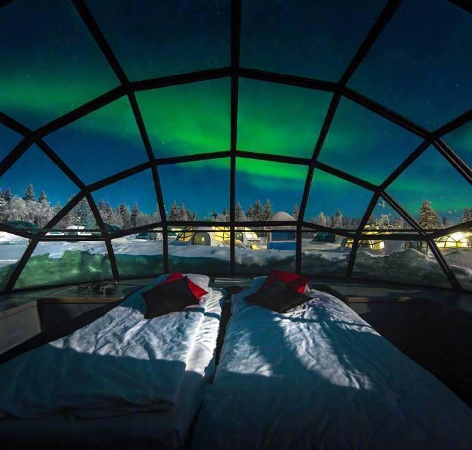 芬兰 Lapland 极光酒店