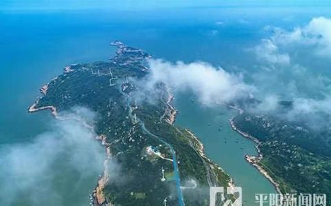 """平阳南麂岛建成了""""不怕台风的电网"""""""